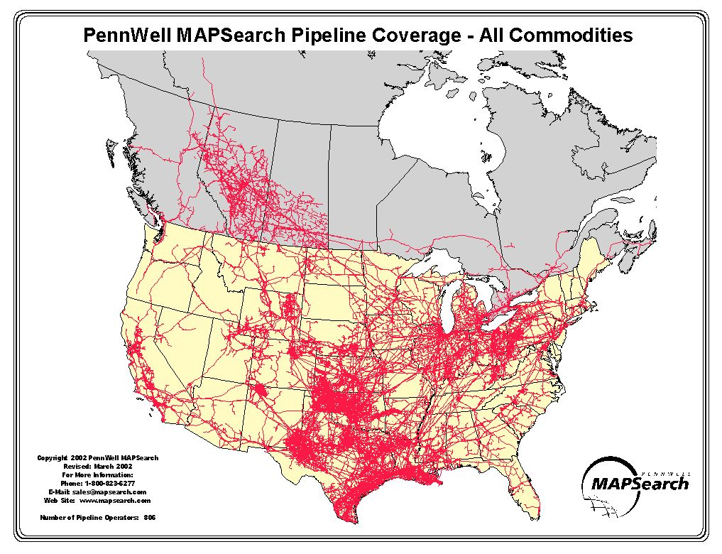 United States Pipelines Map Crude Oil Petroleum Pipelines Map Of - Pipelines in us map