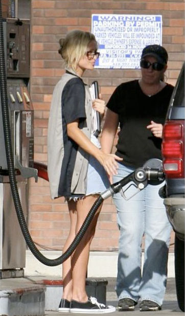 Paris Hilton Gas Pump